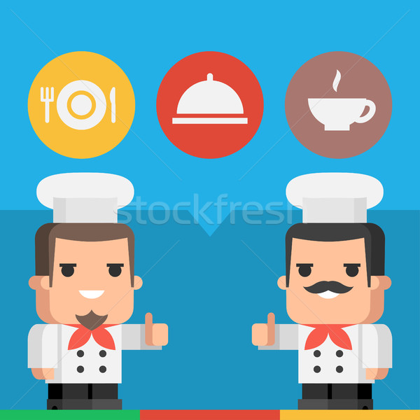 Chef tonen illustratie formaat eps Stockfoto © yuriytsirkunov