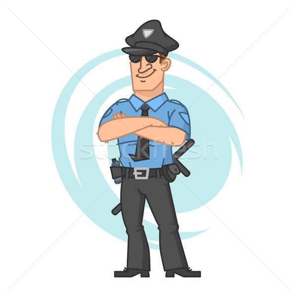 Polícia mãos sorridente ilustração formato eps Foto stock © yuriytsirkunov