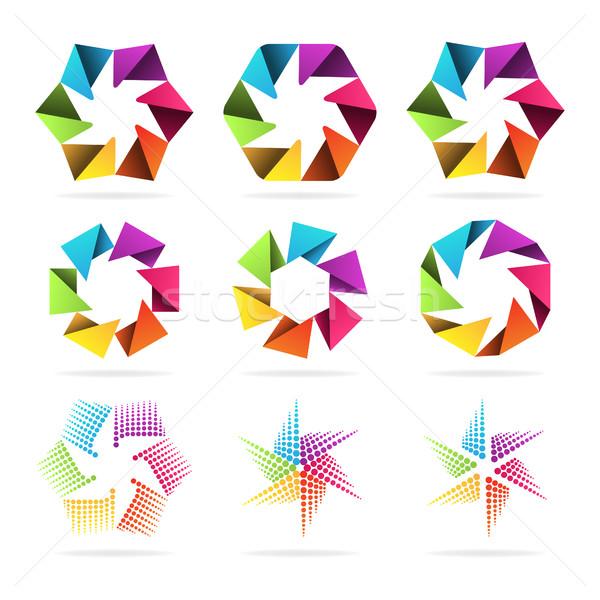 Ayarlamak soyut işaretleri örnek format eps Stok fotoğraf © yuriytsirkunov