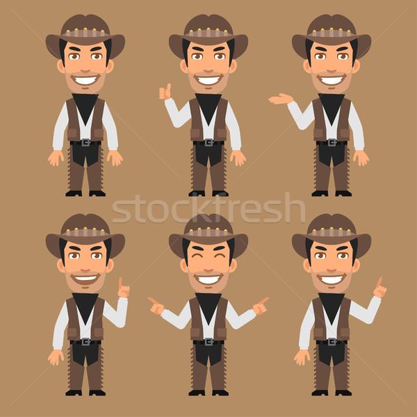 Robber Cowboy Indicates and Shows Stock photo © yuriytsirkunov