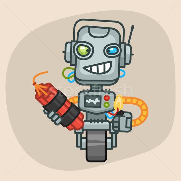 Robot dinamit format eps 10 dizayn Stok fotoğraf © yuriytsirkunov