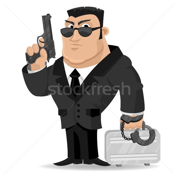 Agente gun valigia illustrazione formato eps Foto d'archivio © yuriytsirkunov