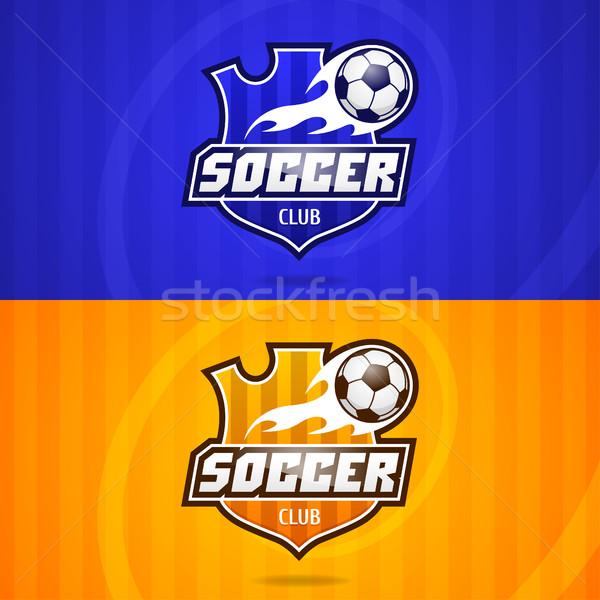 Background soccer club emblem Stock photo © yuriytsirkunov