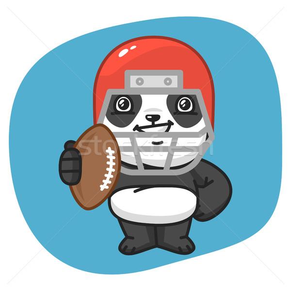 Panda amerikai futballista tart labda formátum Stock fotó © yuriytsirkunov