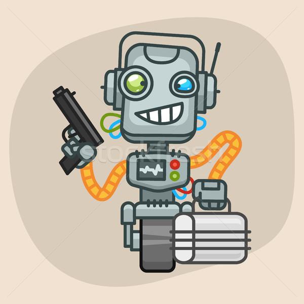 Robô pistola mala formato eps Foto stock © yuriytsirkunov