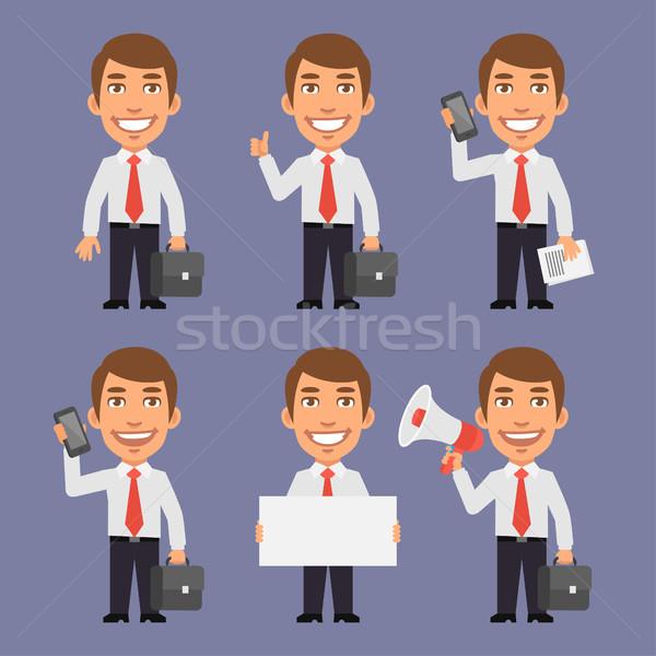 ビジネスマン 異なる オブジェクト フォーマット eps 10 ストックフォト © yuriytsirkunov