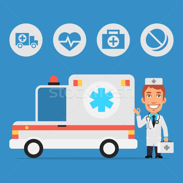 Médico ambulância carro formato eps 10 Foto stock © yuriytsirkunov