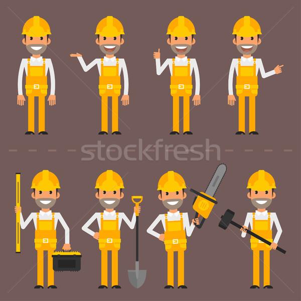 építész karakter különböző eps 10 formátum Stock fotó © yuriytsirkunov