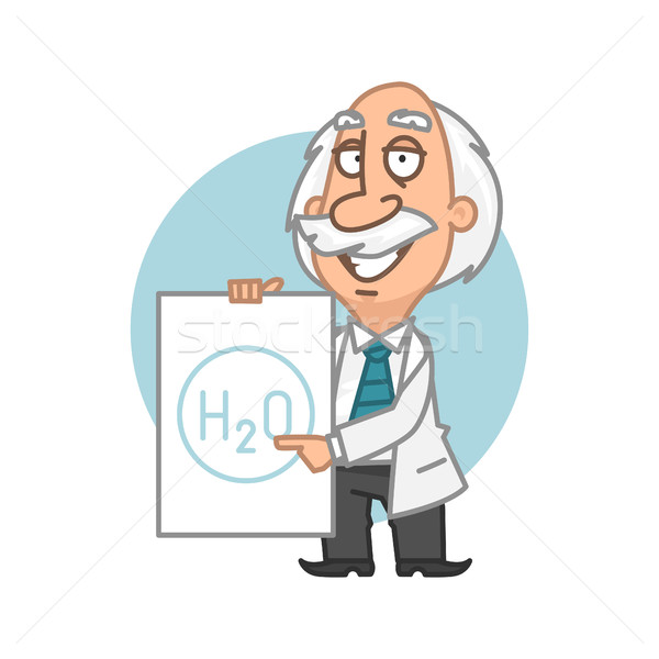 Professeur plaque illustration format eps Photo stock © yuriytsirkunov