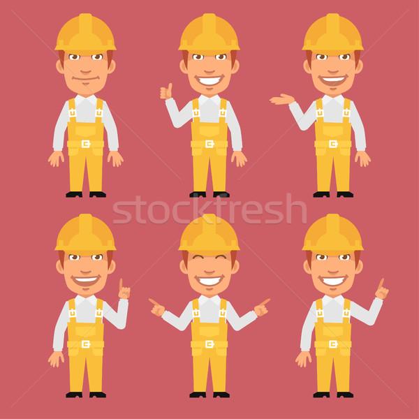 Bouwer formaat eps 10 business bouw Stockfoto © yuriytsirkunov