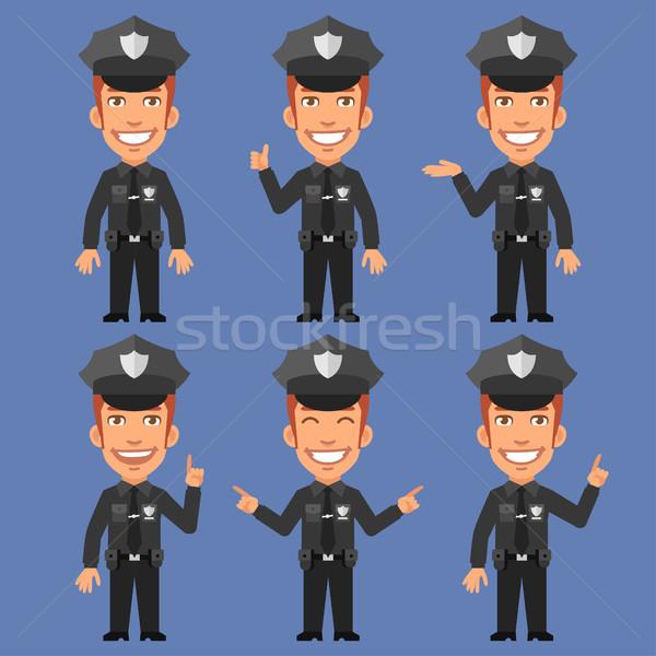 Policial formato eps 10 negócio sorrir Foto stock © yuriytsirkunov