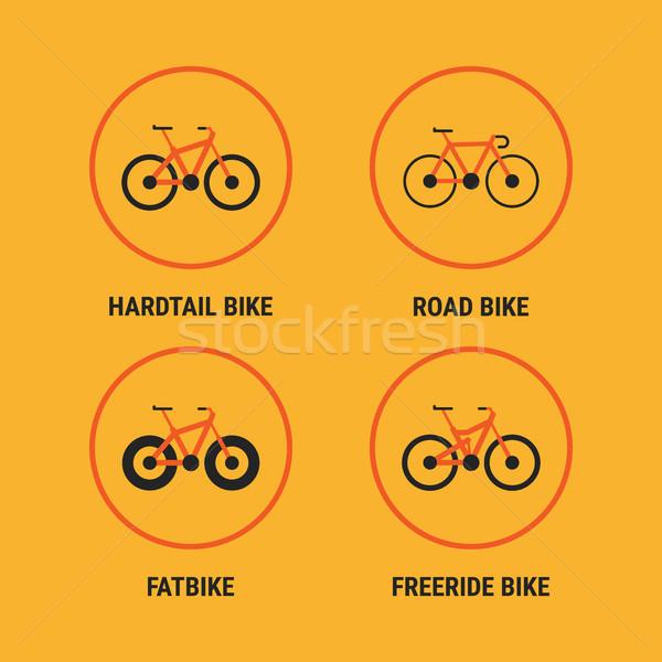 Icons Different Bicycle Bikes Option 1 Stock photo © yuriytsirkunov