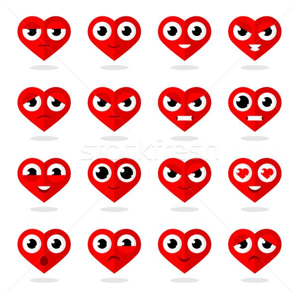 иконки сердце иллюстрация формат прибыль на акцию 10 Сток-фото © yuriytsirkunov