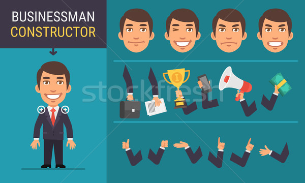 Constructor Character Businessman Stock photo © yuriytsirkunov