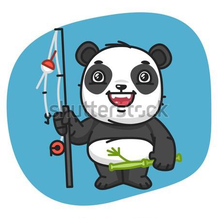 Panda полицейский иллюстрация формат прибыль на акцию 10 Сток-фото © yuriytsirkunov