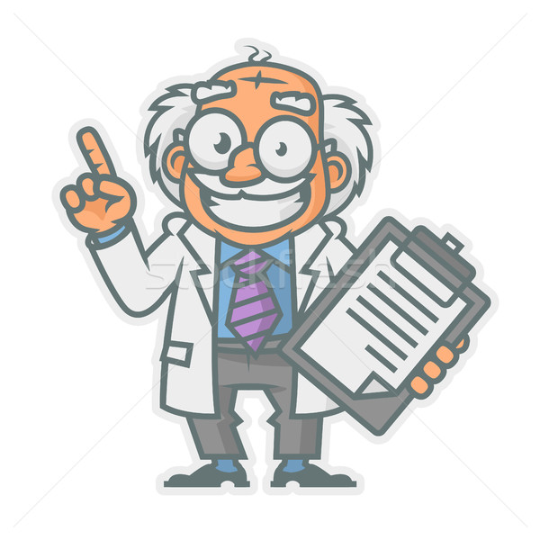 Professor showing thumbs up Stock photo © yuriytsirkunov
