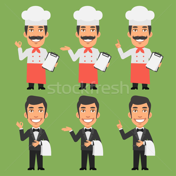 Foto stock: Chef · camarero · formato · eps · 10 · negocios