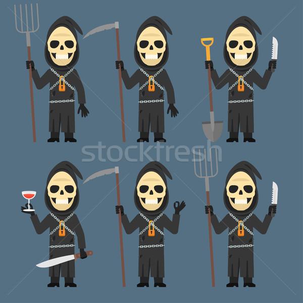 śmierci łopata nóż wina format eps Zdjęcia stock © yuriytsirkunov