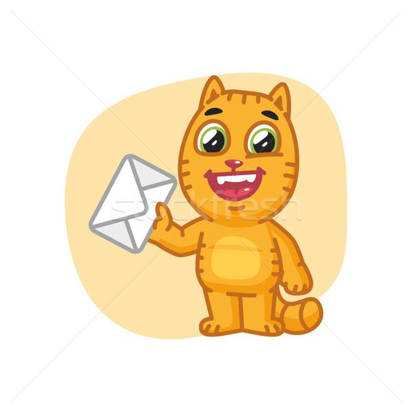 猫 手紙 フォーマット eps 10 ストックフォト © yuriytsirkunov