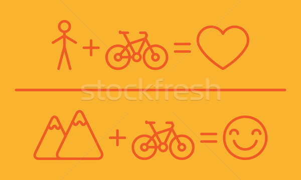 Creative Equation About Bicycles Stock photo © yuriytsirkunov