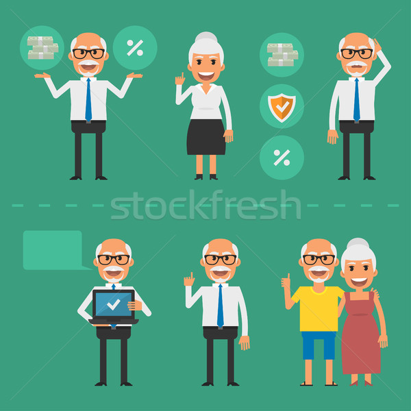 Older people pension fund concept Stock photo © yuriytsirkunov