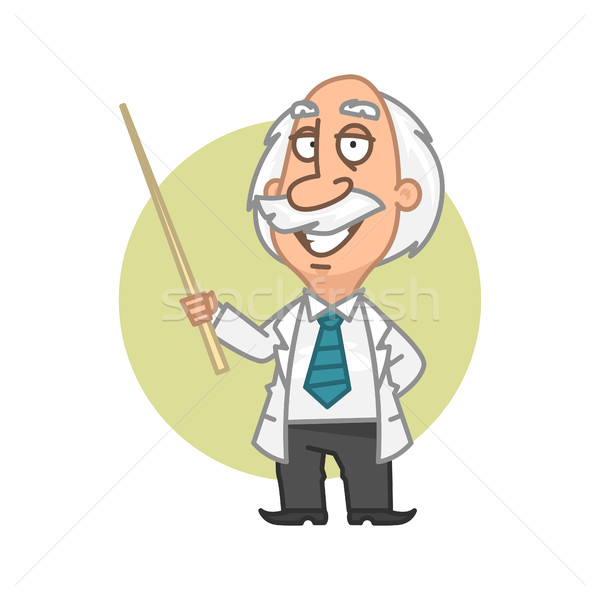 Professor holding in hand pointer Stock photo © yuriytsirkunov
