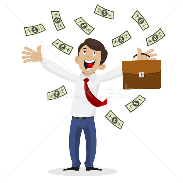 Empresário enorme quantidade dinheiro ilustração formato Foto stock © yuriytsirkunov