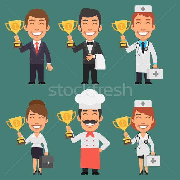Photo stock: Différent · professions · affaires · femme · d'affaires · médecin