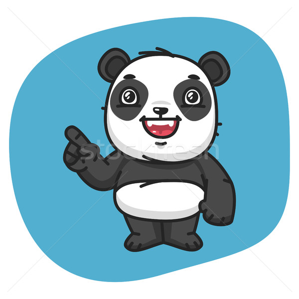 Panda Points Finger Stock photo © yuriytsirkunov
