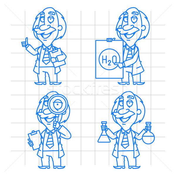 Professor doodle concept set 2 Stock photo © yuriytsirkunov
