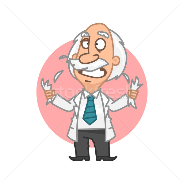 Professor in fury tear on head hair Stock photo © yuriytsirkunov