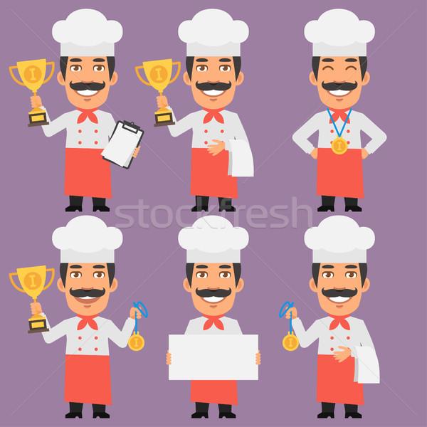 Chef Holds Cup and Medal Stock photo © yuriytsirkunov