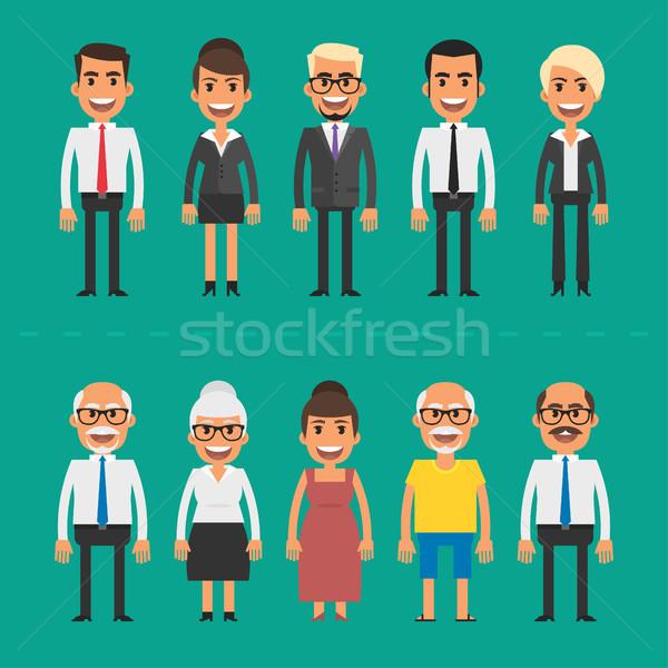 Pessoas do grupo empresários empresárias eps 10 formato Foto stock © yuriytsirkunov