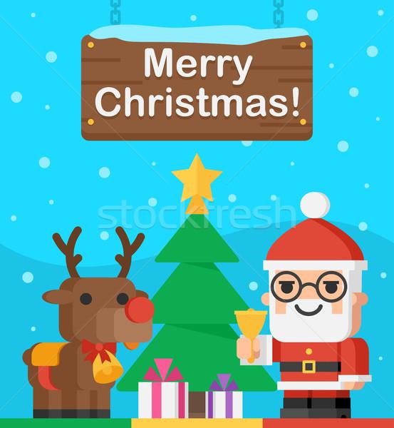 サンタクロース トナカイ クリスマス 実例 フォーマット eps ストックフォト © yuriytsirkunov