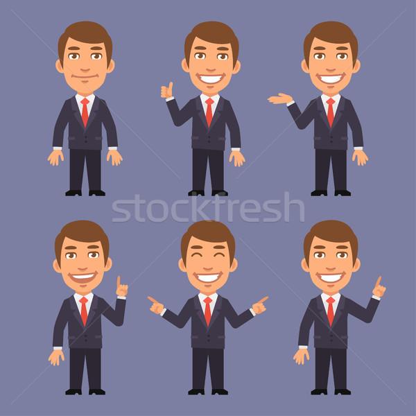 Empresário terno pontos diferente formato eps Foto stock © yuriytsirkunov