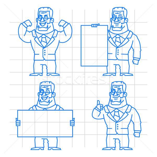 Guard doodle concept set 1 Stock photo © yuriytsirkunov