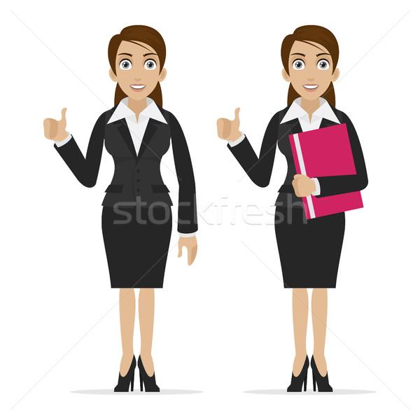 ビジネス女性 指 アップ 実例 フォーマット eps ストックフォト © yuriytsirkunov
