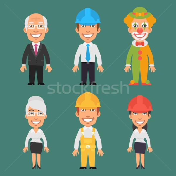 ストックフォト: 異なる · 職業 · 古い · ビジネスマン · ビジネス女性