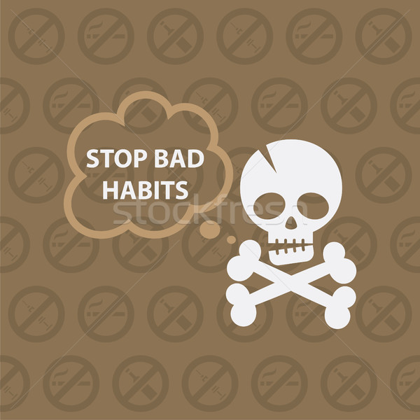 Concept on theme stop bad habits Stock photo © yuriytsirkunov