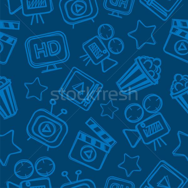 Muster Kino Kritzeleien Möglichkeit formatieren eps Stock foto © yuriytsirkunov