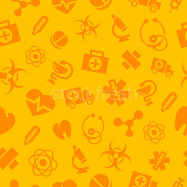 Patroon medische monochroom iconen mogelijkheid formaat Stockfoto © yuriytsirkunov