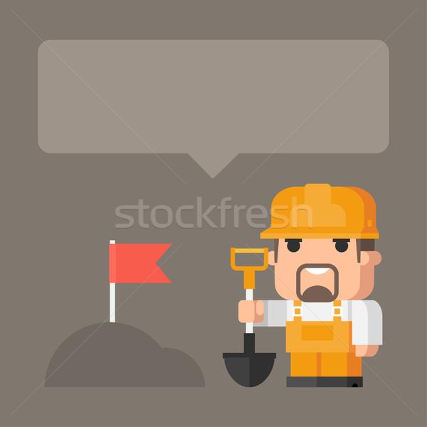 Concept builder and earthworks Stock photo © yuriytsirkunov