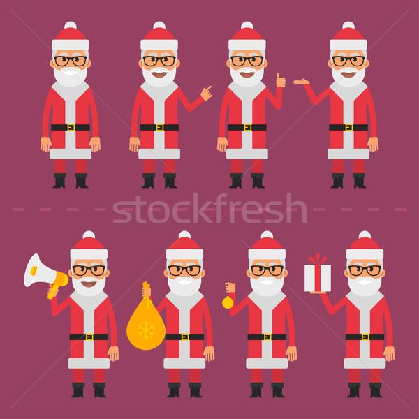 ストックフォト: サンタクロース · eps · 10 · フォーマット · 赤