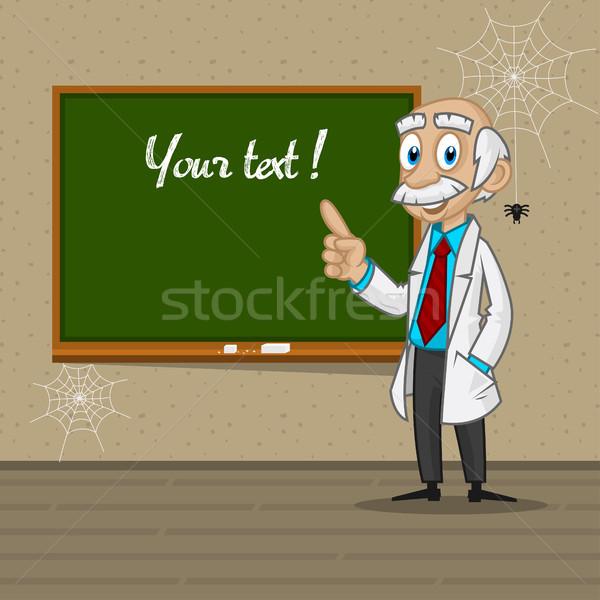Professor points to blackboard Stock photo © yuriytsirkunov
