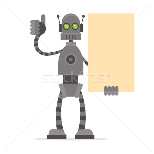 Robot poster örnek Stok fotoğraf © yuriytsirkunov