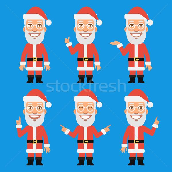 Mikulás formátum eps 10 idős férfi karácsony Stock fotó © yuriytsirkunov