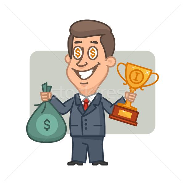 ビジネスマン 袋 お金 カップ 実例 ストックフォト © yuriytsirkunov