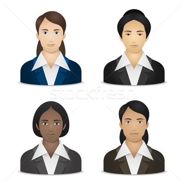 Negócio mulheres ilustração formato eps Foto stock © yuriytsirkunov