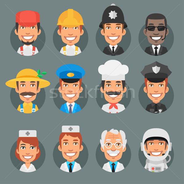 Photo stock: Personnes · différent · professions · cercle · format