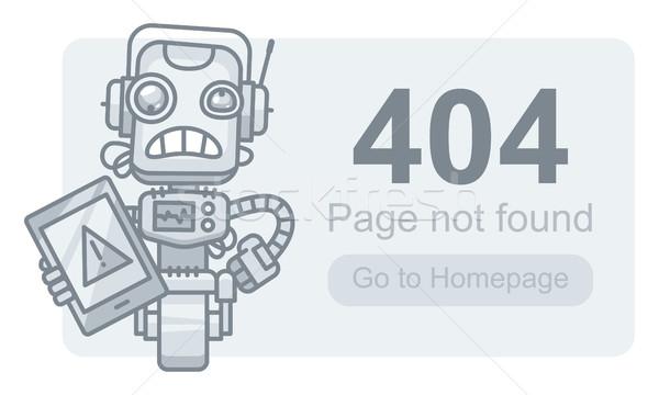 しない ロボット タブレット フォーマット eps ストックフォト © yuriytsirkunov